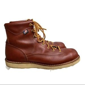 Danner Lace Up Vibram Sole Work Boots Leather